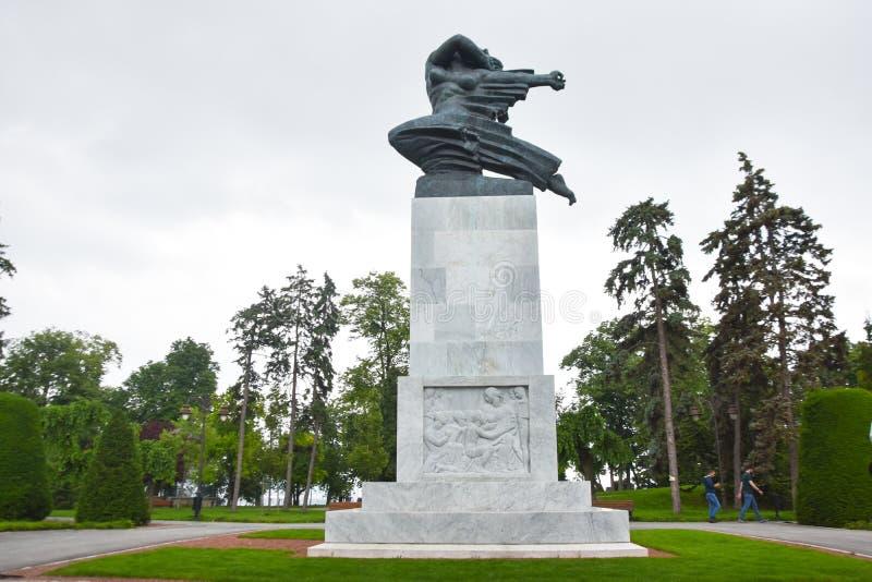 贝尔格莱德/塞尔维亚- 06 06 2019年:谢意的纪念碑向法国 库存照片