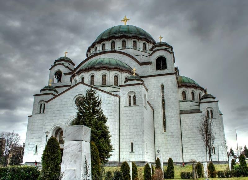 贝尔格莱德sava塞尔维亚st寺庙 库存图片