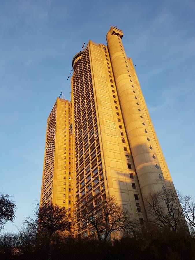 贝尔格莱德skyscrapper,塞尔维亚 库存照片