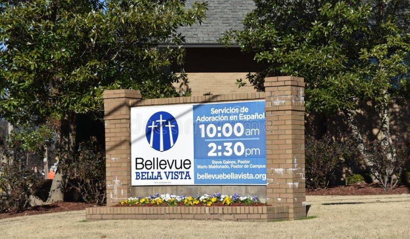 贝尔维北贝亚维斯塔教会,孟菲斯,TN 库存图片