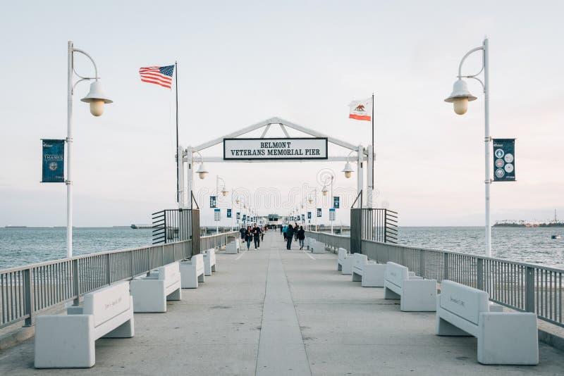 贝尔蒙特码头,在长滩,加利福尼亚 免版税图库摄影