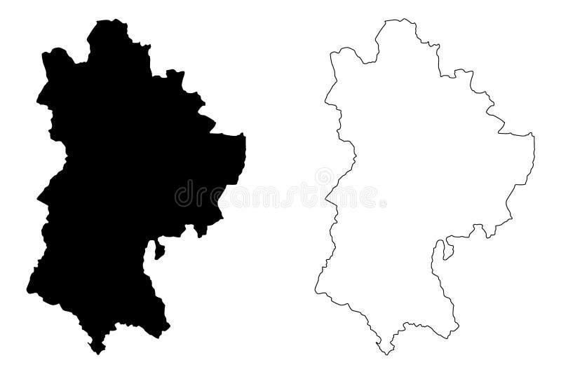 贝德福德郡地图传染媒介 库存例证