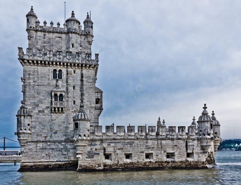贝拉母de里斯本葡萄牙torre塔 库存图片