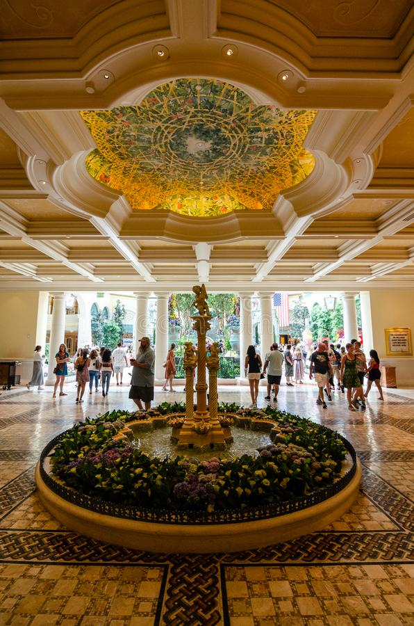 贝拉焦旅馆拉斯维加斯 免版税库存照片