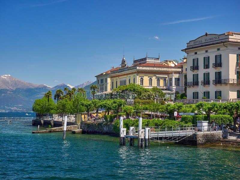 贝拉焦,意大利- 2019年5月31日:贝拉焦,科莫湖,意大利  免版税库存照片