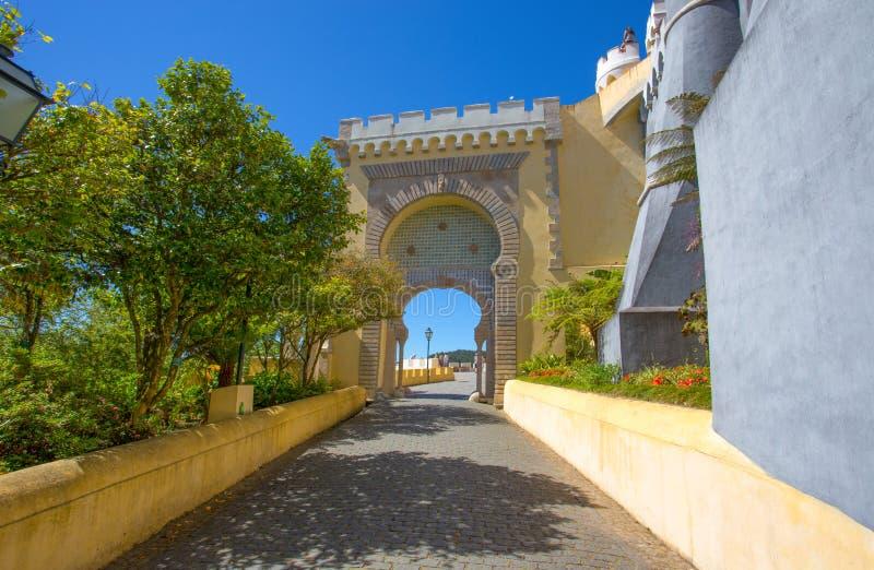 贝纳全国宫殿在辛特拉,葡萄牙帕拉西奥Nacional da贝纳 库存图片