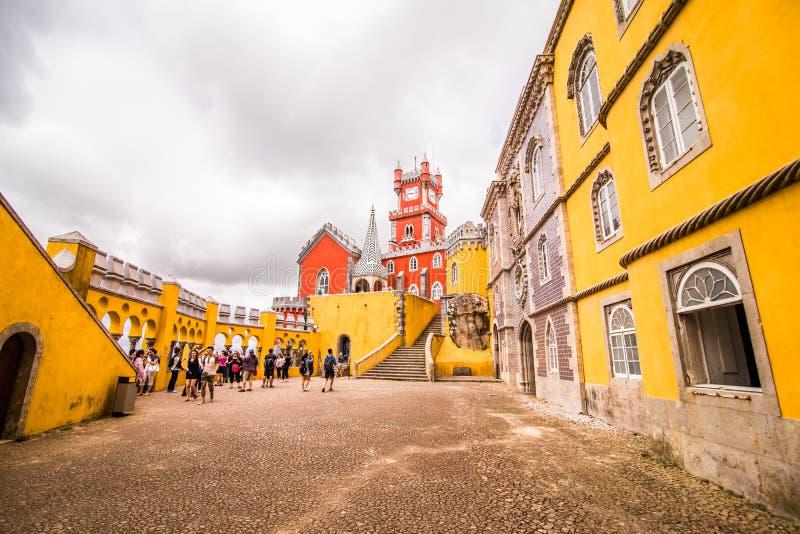 贝纳全国宫殿在辛特拉,葡萄牙帕拉西奥Nacional da贝纳 免版税库存照片