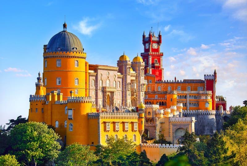 贝纳宫殿在辛特拉 里斯本葡萄牙 免版税库存照片