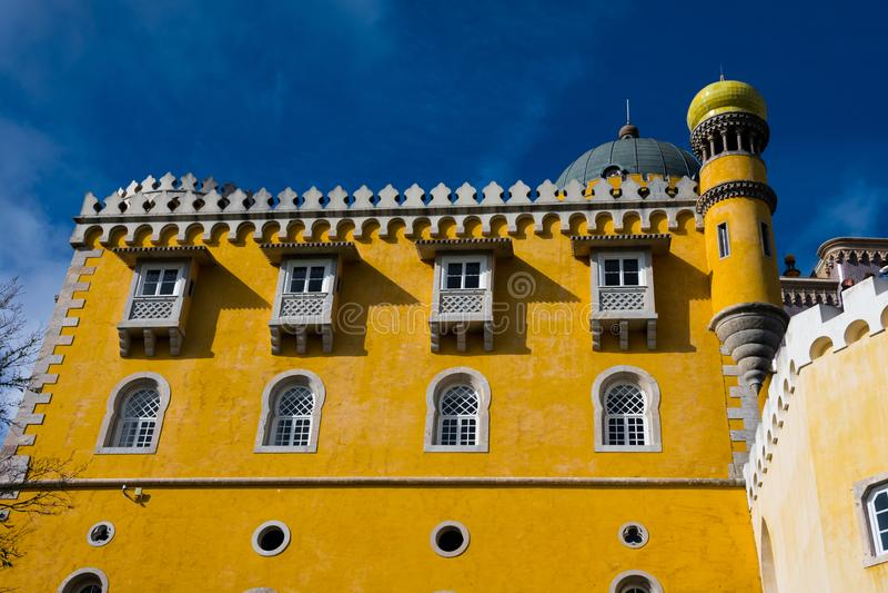 贝纳宫殿帕拉西奥Nacional da贝纳的看法 库存照片