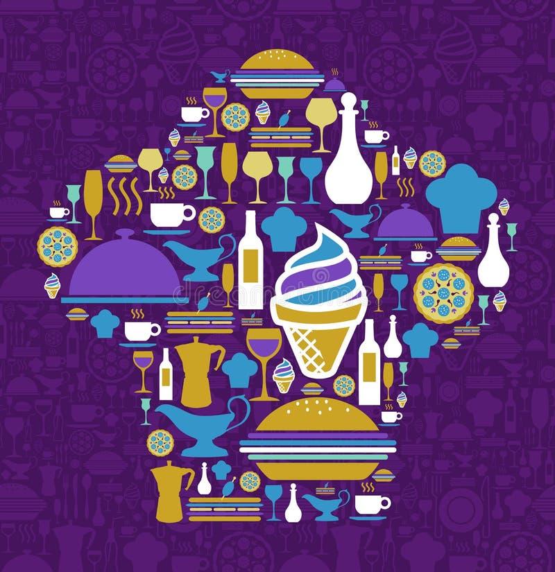 Download 贝雷帽主厨图标餐馆集合形状 向量例证. 插画 包括有 午餐, 图标, 咖啡, 玻璃, 薄饼, 盖子, 食物 - 22354837