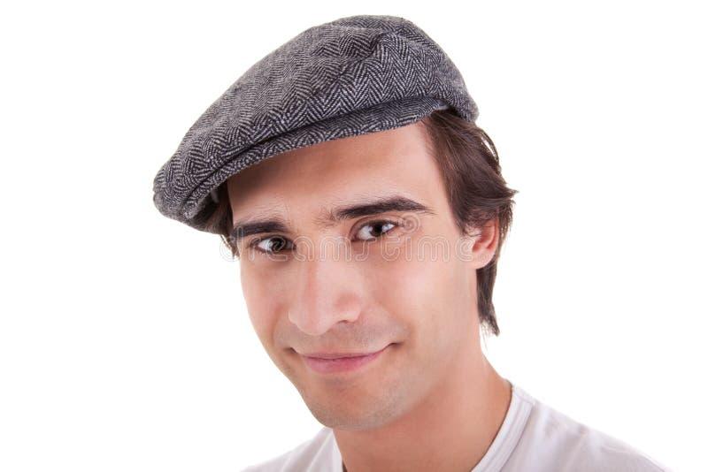 贝雷帽人年轻人 库存图片