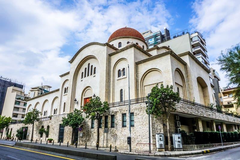 贝鲁特圣尼古拉斯大教堂 图库摄影