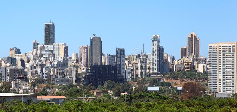 贝鲁特地平线,黎巴嫩 库存图片