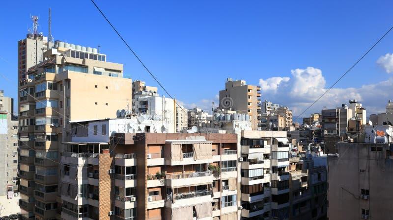 贝鲁特地平线-都市密林 免版税库存照片
