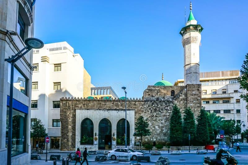 贝鲁特贵族Munzer清真寺 库存图片