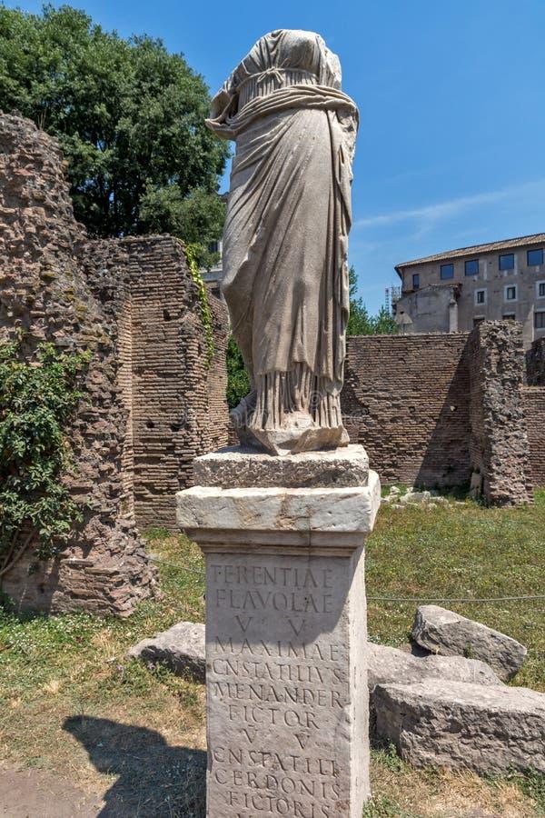 贞洁的议院古罗马广场的在罗马  库存图片