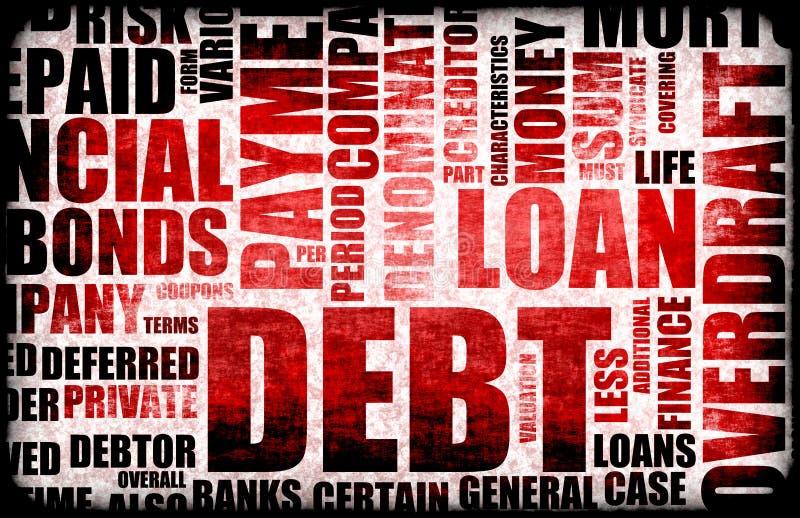 负债 向量例证