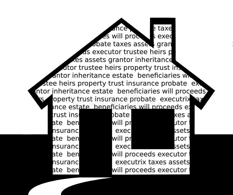 财产分配 库存例证
