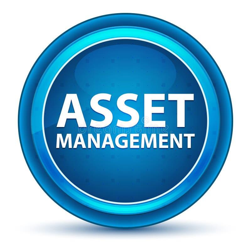 财产管理眼珠蓝色圆的按钮 向量例证