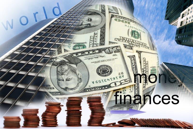 财务世界 库存例证