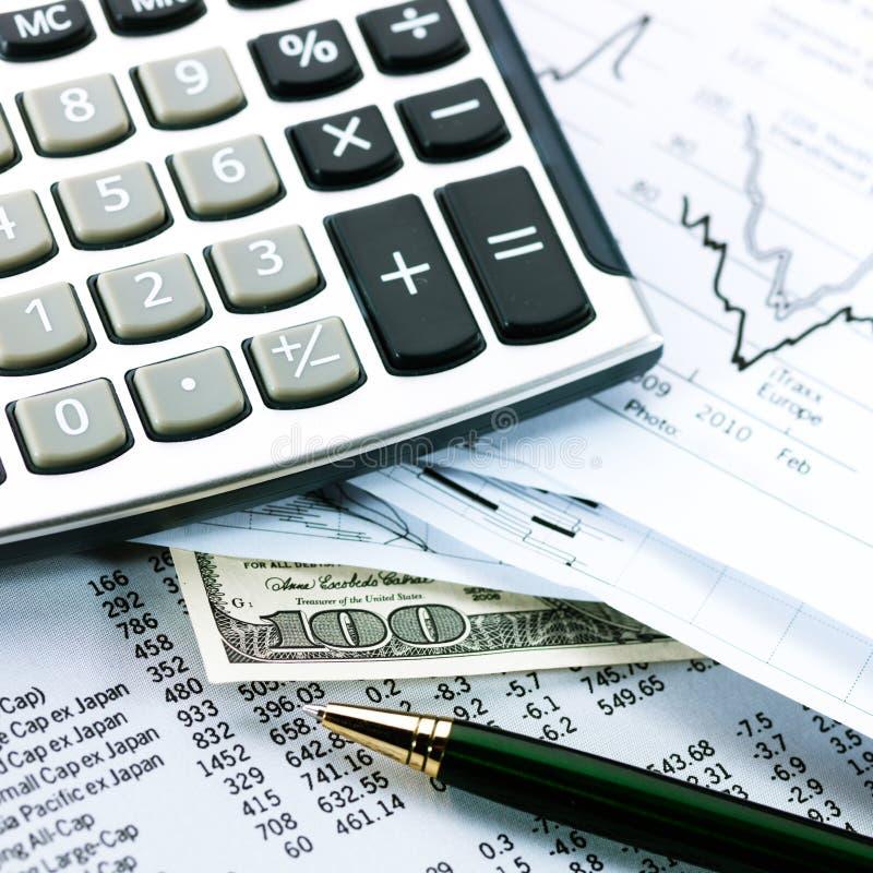 财务企业的概念 库存图片