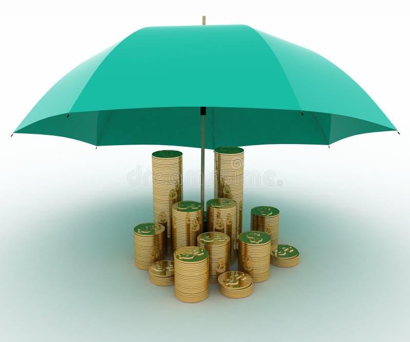 财务保护 向量例证