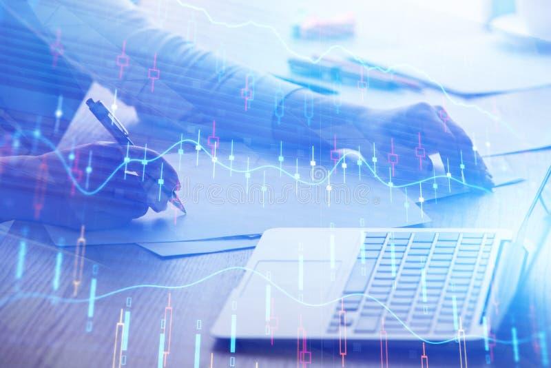 财务和贸易概念 免版税库存图片