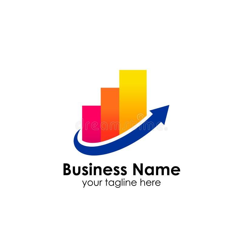财务商标模板 会计商标模板 绘制象图表 库存例证