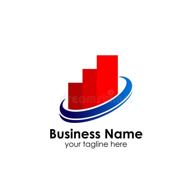 财务商标模板 会计商标模板 绘制象图表 皇族释放例证