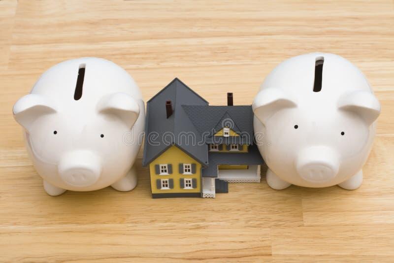 财务回家 免版税库存图片