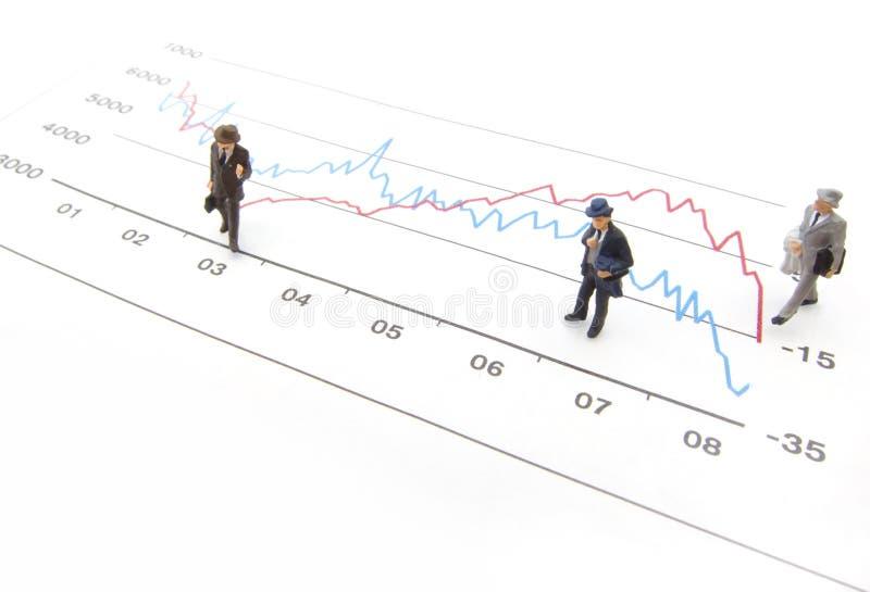 财务图形性能 图库摄影