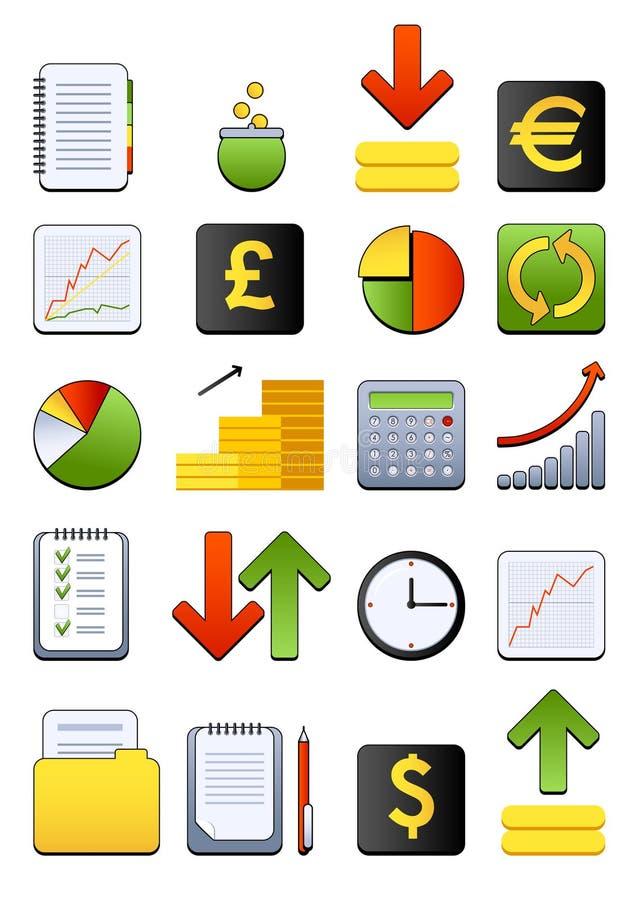 财务图标万维网 向量例证
