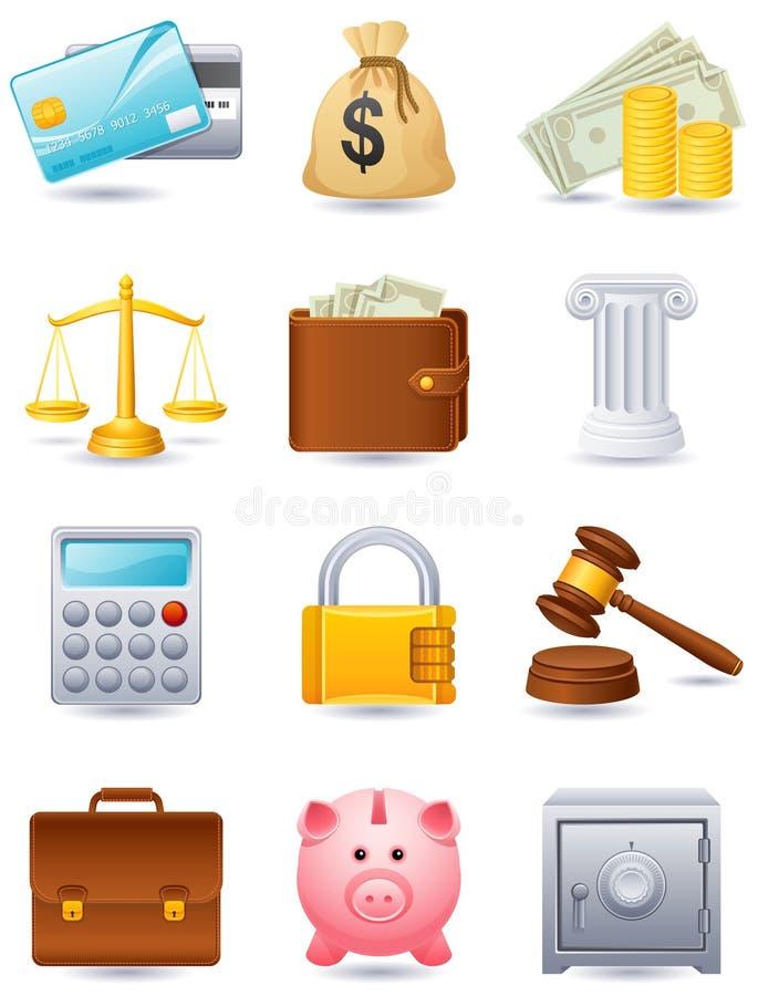 财务图标 向量例证
