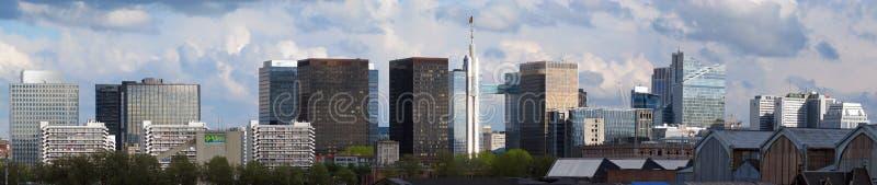 财务地区在布鲁塞尔(比利时) 免版税库存照片