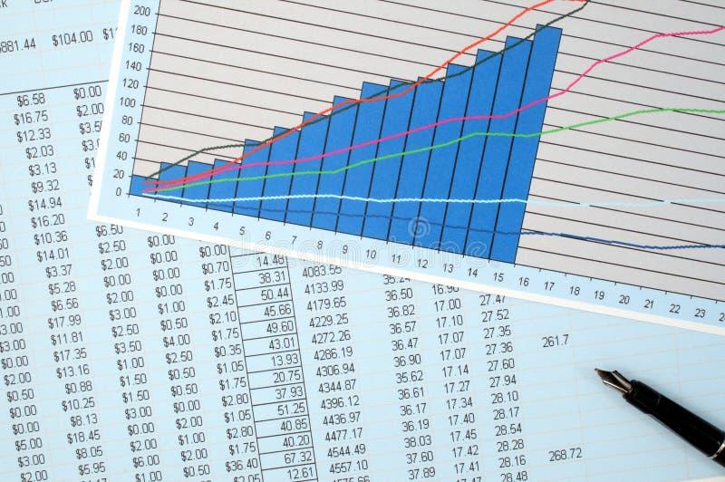 财务复核 免版税图库摄影