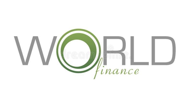财务徽标世界 皇族释放例证