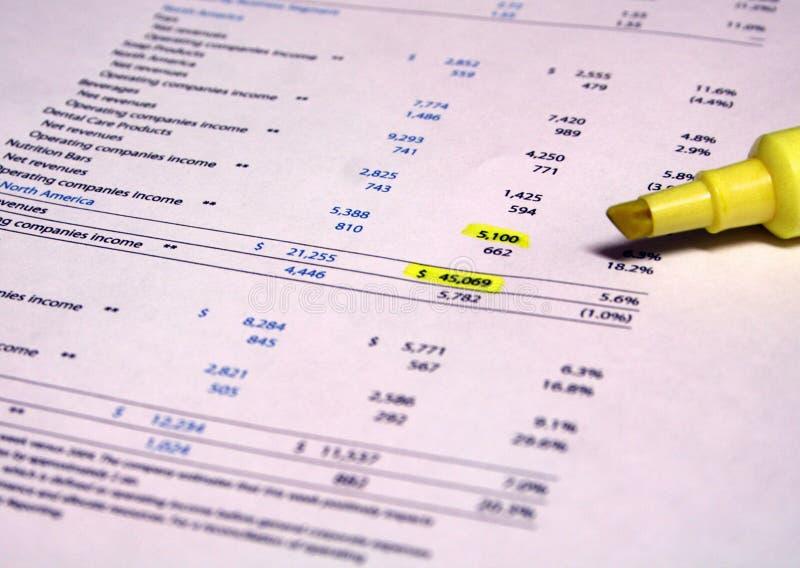 财务文书工作 库存图片