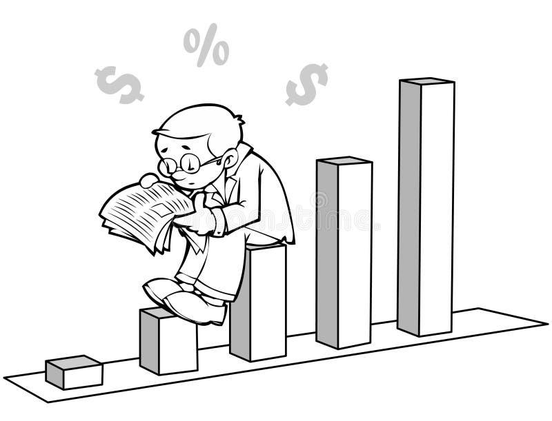 财务新闻 向量例证