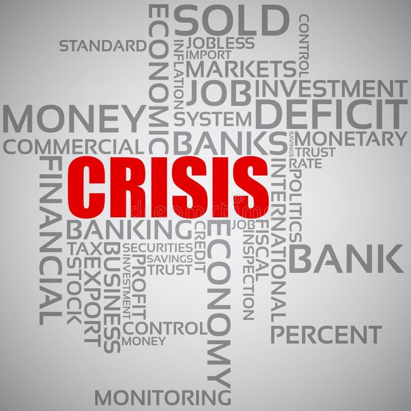 财务概念的危机 皇族释放例证