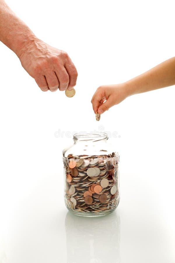财务概念的教育 库存照片