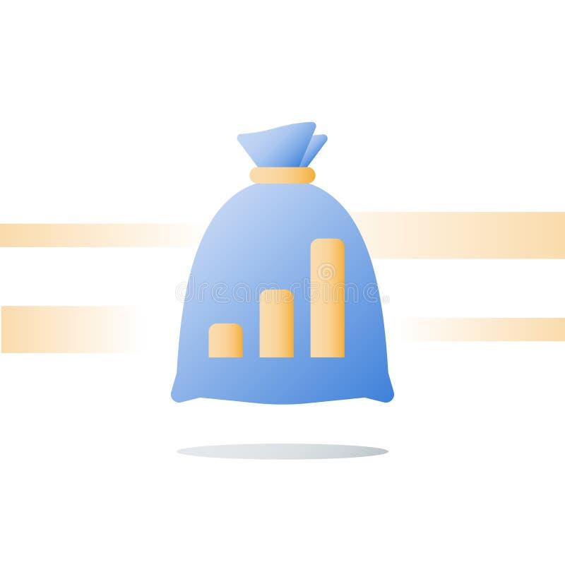 财务概念,快的金钱,快速的现金贷款,投资资金,预算计划,股票市场,财富管理,价值投资 库存例证