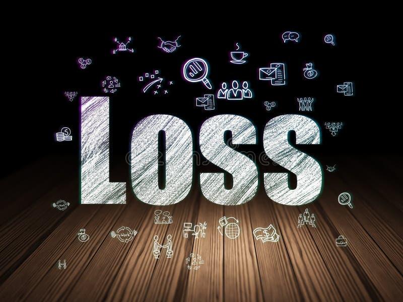 财务概念:损失在难看的东西暗室 免版税库存照片