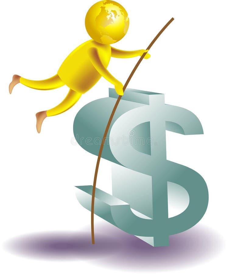财务比赛 向量例证