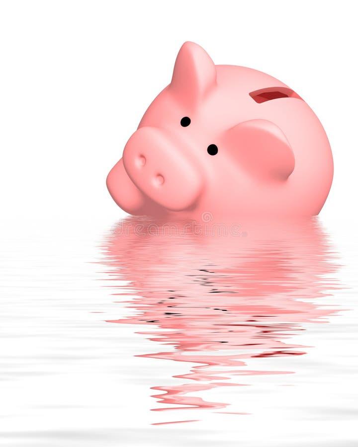 财务的危机 向量例证