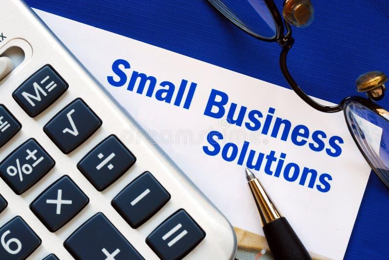 财务的商业提供小的解决方法 免版税库存图片