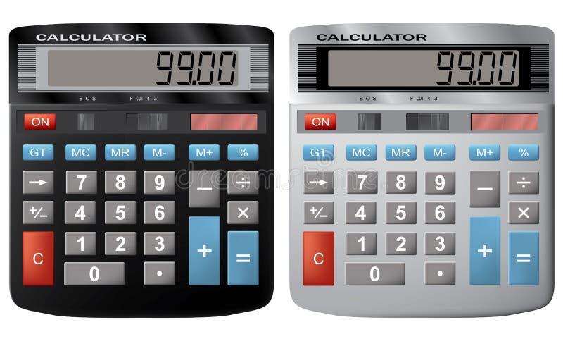 财务的计算器 皇族释放例证