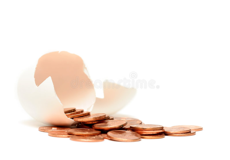 财务的鸡蛋 库存照片