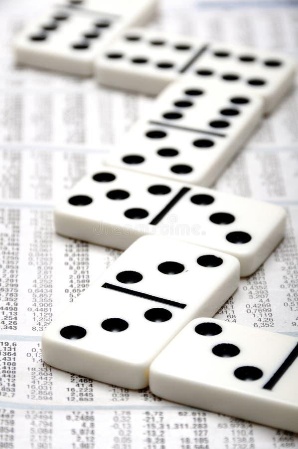 财务的Domino 库存照片