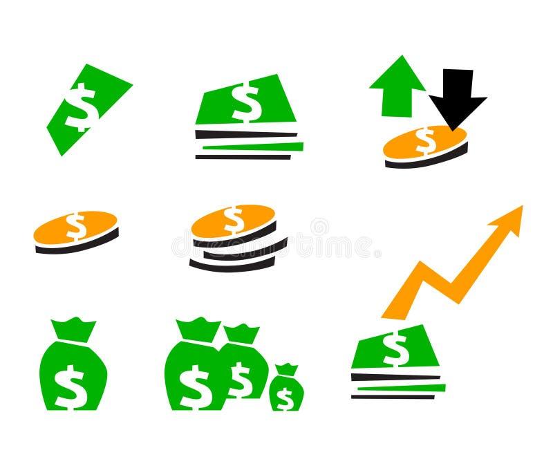 财务符号 向量例证