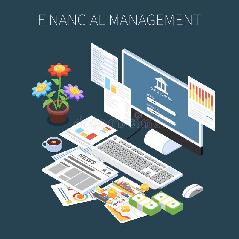 财务管理等量构成 向量例证